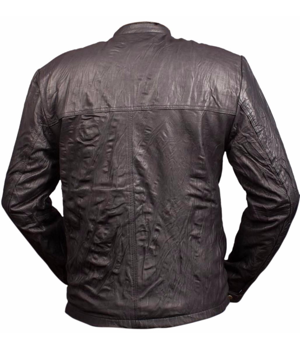 17 AGAIN ZAC EFRON OBLOW WRINKLED LEATHER JACKET AT LOW PRICES