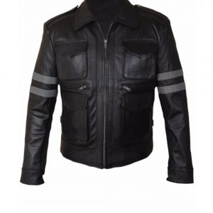 resident evil 6 leon leather jacekt